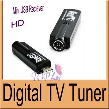 Wand Digital TV Tuner TV DVB-T Mini USB DVB-T Digital TV Stick receiver stick dongle Smart search HDTV   with Remote Control