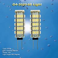 2PCS G4 JC Base 12V 68 SMD 3020 LED Landscaping Light Home Spot light Bulb White
