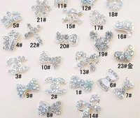 wholesale nail art bow 3D butterfly Cross Imperial crown decoration 100pcs/lot DIY nail jewelry alloy rhinestone free shipping