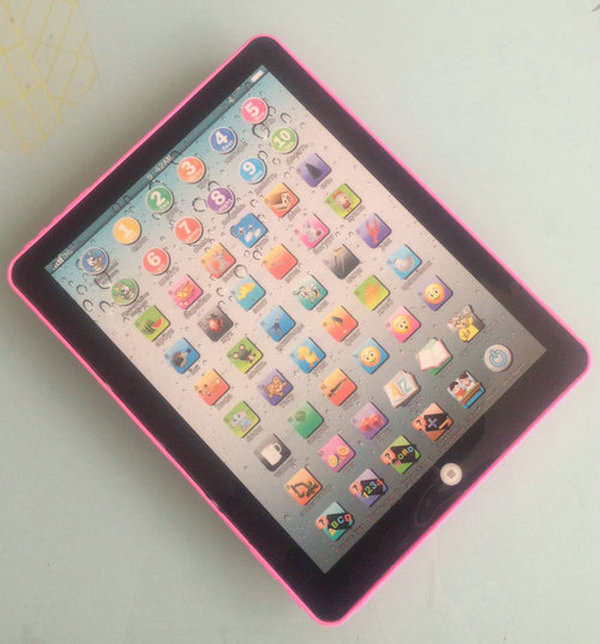 3pcs 2-7 Years Russian language Learning Machine Ipad Children Educational toys for baby Kids 3 color choose pink blue white(China (Mainland))