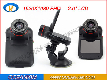 Full HD 1080P Car dvr K8000 with motion detection,DVR CAR camera recorder with HDMI,270 degree rotation free shipping