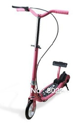Free EMS DHL Environment Friendly Folding Bicycle Handlebar Adjustable Scooter with Accelerator Pedal Gas Pedal(China (Mainland))