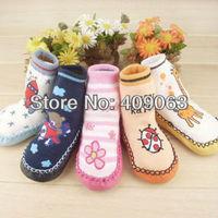 24pairs/lot baby home socks cartoon anti-slip socks kids shoes socks boys & girls slipper socks booties 3 sizes free shipping