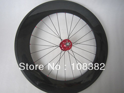 full carbon fiber tubular bike track wheel,only rear wheel(China (Mainland))