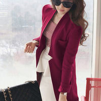 Woolen overcoat female slim medium-long woolen outerwear female spring long-sleeve british style clothing