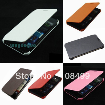 Luxury Flip Phone Synthetic Leather Case Protect Cover For Samsung Galaxy S II I9100 S2 Red Pink White Black many colors #FG