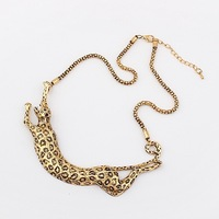 Min.order $10(mix) leopard collar necklace 2013 jewelry wholesale exaggerated necklaces for women(4 colors)