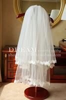 Bridal veil wedding dress veil the bride hair accessory accessories double layer laciness lace veil
