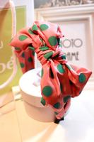 Korean ' large polka dot big bow multicolor multicolour vintage fashion hair bands hair accessory multicolour