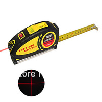 2PCS Free shipping 3-in-1 Laser Level Tape Measure Kit in 5.5 Meter or 18 Feet Length