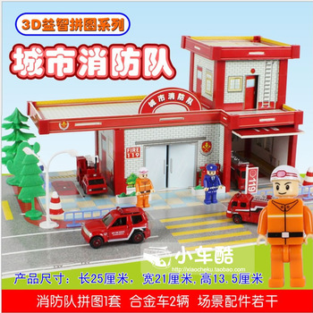 Free shipping O.l 3d jigsaw puzzle toy series 2 alloy barrowload
