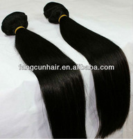 Top quality virgin Brazilian hair weft with silky straight wavy