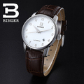 Binger accusative case watch fully-automatic mechanical watch stainless steel mens watch brown series with digital