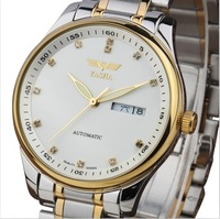 Original fully-automatic mechanical watch double calendar casual male watch luminous mens watch stainless steel