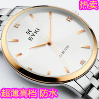 Ikey men's watch ultra-thin steel sheet male table quality waterproof watch