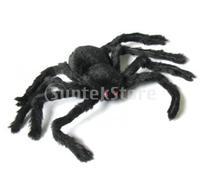 Free Shipping 30cm Black Spider Plush Puppet Toy / Halloween Decor