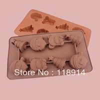 Merry Christmas DIY silicone chocolate mould, cake mould, baking silicone mold <CM-013>