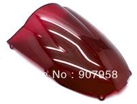Red Motorcycle Windshield Windscreen Fit For Kawasa Ki ZX-6R 2000-02 & ZZR600 ZZR