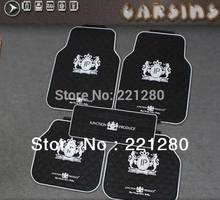One Set 5Pcs Junction Produce Car Luxury Vip Latex Floor Mats Foot Mats White JP Logo Black Mats & Carpets(China (Mainland))