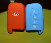 2/3/4 Buttons Silica Gel Key Wallet Key Cover Car Key Case Holder for Hyundai 8G Sonata IX35 Genesis Coupe SUV Intelligent Car