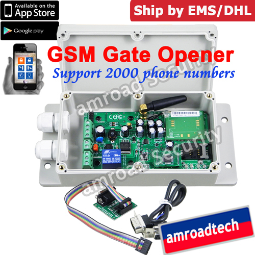 GSM Gate Door Opener Operator SMS Remote Control Relay Output Contacts Switch Box 850/900/1800/1900Mhz by APP ADC-2000, DHL/EMS(China (Mainland))