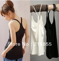 2013 Fashion Free Shipping New Hot  Women's Tank Top Shirt Vest Waistcoat Camisole Straps Halter Fashion Bottoming Shirt