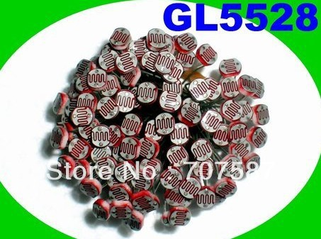 2000PCS x 5528 Light Dependent Resistor LDR 5MM Photoresistor wholesale and retail Photoconductive resistanceFree Shipping !(China (Mainland))