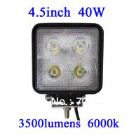 FOR JEEP 40W LED Work Light 3500 Lumen Offroad Driving Lamp 4.5inch   ATV,10-30V DC IP67 FLOOR BEAM cree led offroad led light