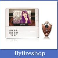 5pcs 2.8 inch Display screen digital door peephole viewer camera Doorbell + Digital Zoom + Destruction Alarm resolutio freeship
