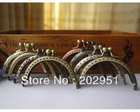15pcs High Quality 8.5CM Antique Brass Metal Purse Frame Silver Color Frame, Completed Holes,FREE SHIPPING