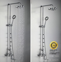 Free Shipping 100% Brass New Hollow Showers Rain Shower Copper showers Bath & Shower Faucet S07P(China (Mainland))