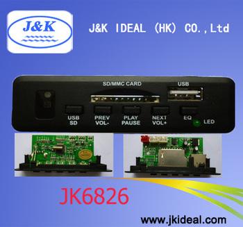 JK6826 Audio USB host SD MMC MP3 board