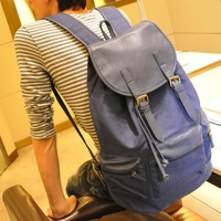 Promotion leather and canvas backpack for men 2013  backpack men school bag 100% high quality school backpacks