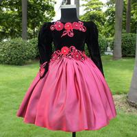 2013 children's clothing wedding dress child princess dress long-sleeve dress 753b free shipping