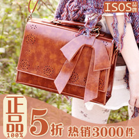 2013 japanese style vintage box cutout stencilling bow small fresh women's cross-body shoulder bag handbag -Free Shipping
