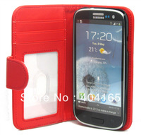 Stand Function, Mix Color Side Flip PU Leather Wallet Cover Case For Samsung Galaxy S4 i9500