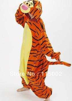 Promotion!!! Kigurumi Pyjamas Cosplay Costume Fleece Lovely Tiger Winter Pyjamas Adult Sleepsuit