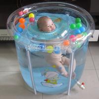 Transparent mount baby swimming pool paddling pool baby infant children water pool newborn swimming bucket