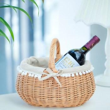 Willow rattan basket home storage basket food basket mandoo box picnic basket bread box 011