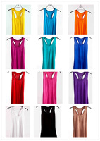 Women Stretch Sleeveless Camisole Racerback Singlet Vest ,14 Solid Color Tank Tops, 5/lot wholesale waistcoat  Free Shipping