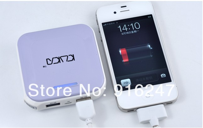 Free shipping - Mobile power supply iPhone/samsung/HTC / / millet mobile phone charging treasure 6001mAh&amp;7000mAh spare batteries(China (Mainland))