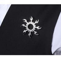 Boys female accessories flame brooch trend men's metal brooch (Min order US$10)