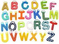 78 pcs ( 3 sets, 26 pcs/set ) English 26 Alphabet Letter Creative Wooden Fridge magnet,Refrigerator magnet, whiteboard magnet