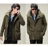 Free shipping new menspring fashion casual men Slim multi pocket stand collar jacket menjacket trend Men