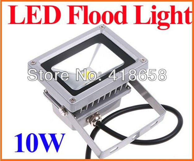 85-265V 10W Warm White Landscape Lighting waterproof LED Flood Light Floodlight LED street Lamp Free Shipping(China (Mainland))