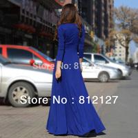 2014 Vestidos Free Shipping Women Summer Dress Natural Chiffon Full Hot New Womens Fashion Elegant High Quality Maxi Party Dress