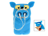Silicone Cute Pirate Pig Case Cover Skin for Samsung Galaxy S3 i9300  (Azure )