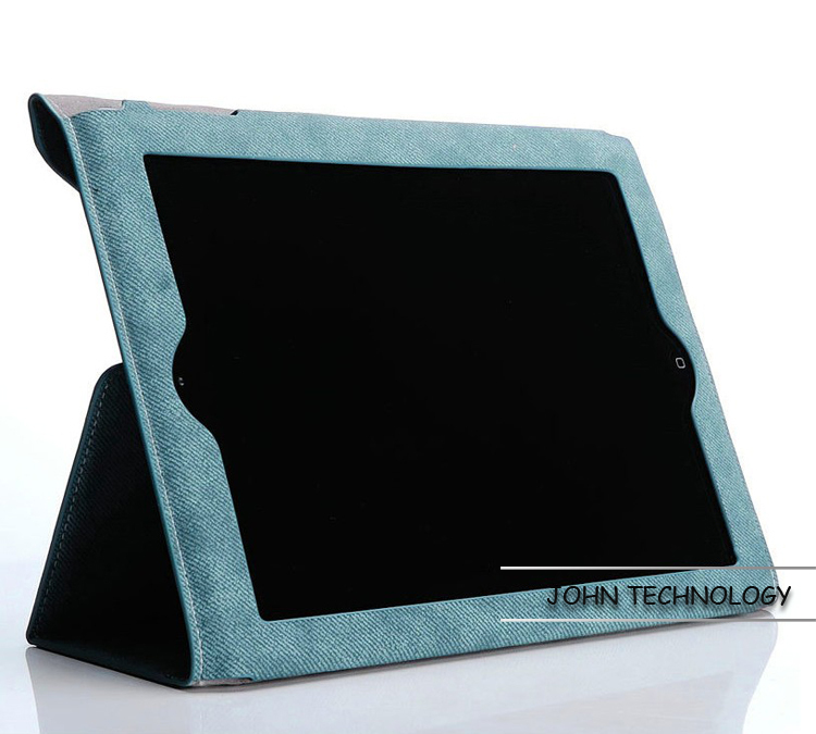 1pcs Leather Cases For Ipad 2 3 Fashionable cover Magnetic Smart Cover leather Case FreeShipping(China (Mainland))