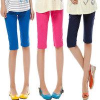 Maternity legging spring and summer pencil pants maternity capris candy color cotton capris -t5