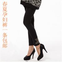 Sissyish guaiguai maternity pants spring and summer belly pants plus size maternity pants 100% cotton maternity legging -t5